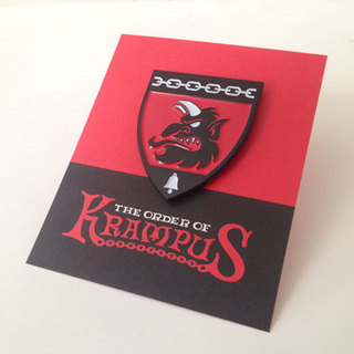Order of krampus head profile enamel pin legacy square thumb
