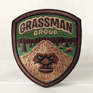 Grassman group embroidered patch full legacy square thumb