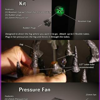 Ks flexible tubing kit pressure fan legacy square thumb