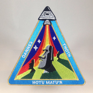 Nazca ancient astronaut space mission patch easter island outpost legacy square thumb