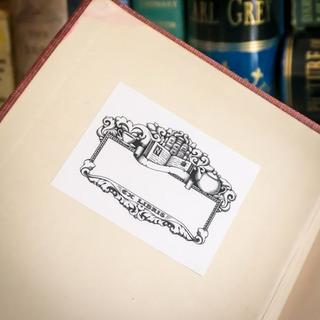 Ex libris bookplate in book grande legacy square thumb