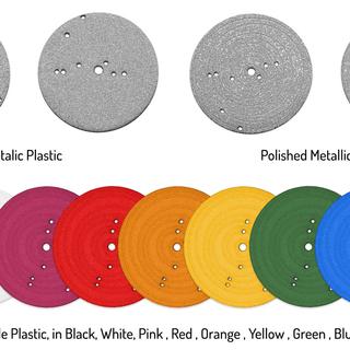 Metallic plastic legacy square thumb