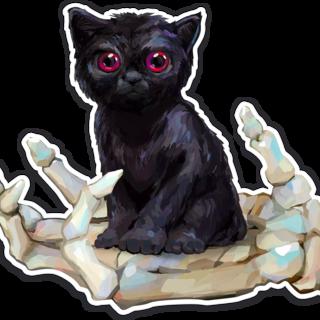 Cat sticker legacy square thumb