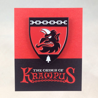 Krampus head profile enamel pin sq legacy square thumb