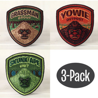 Grassman skunk yowie shield patch 3 pack legacy square thumb