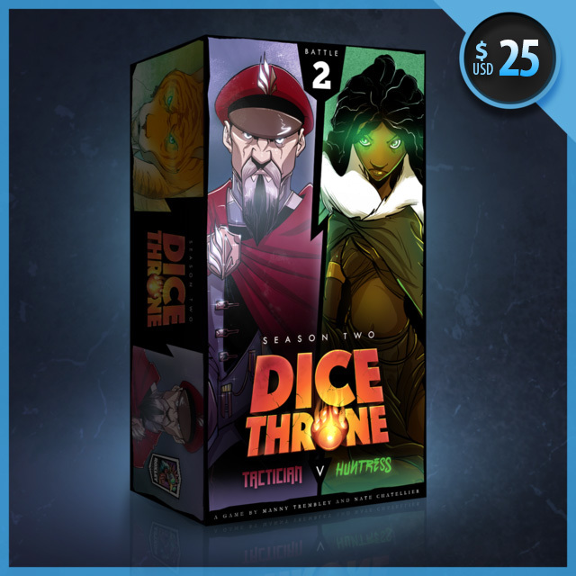 Tactician vs Huntress: Dice Throne Season Two Box 2  -  Roxley Games