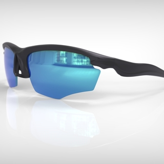 Falcon elite black frame mirrorblue lens legacy square thumb