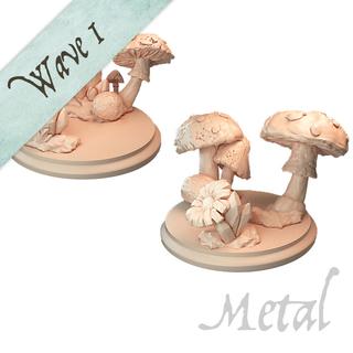 Moonstone and mushrooms metal legacy square thumb