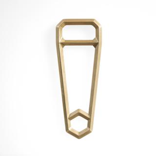 Handheld brass white legacy square thumb