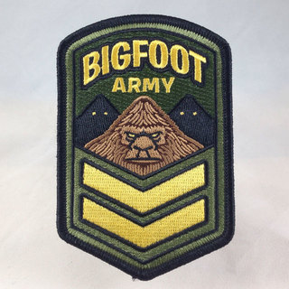 Bigfoot army embroidered patch sq legacy square thumb