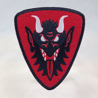 Krampus face embroidered patch sq legacy square thumb