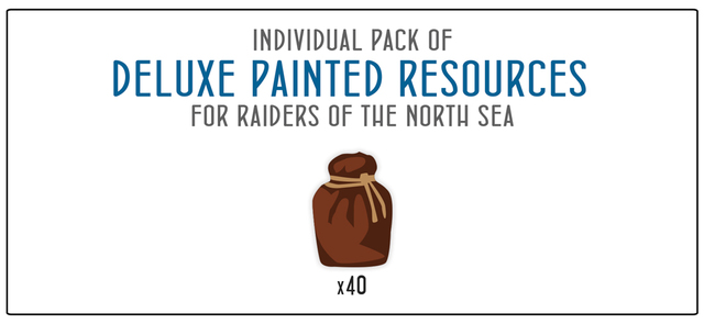 40-piece Set of Painted Wooden Provisions tokens for Raiders of the North Sea and/or Paladins of the West Kingdom
