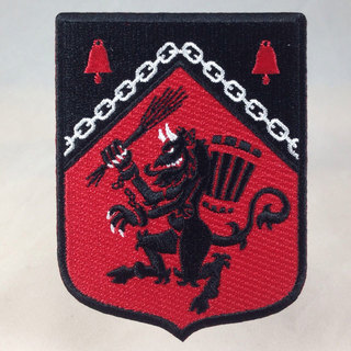 Rampant krampus embroidered patch sq legacy square thumb