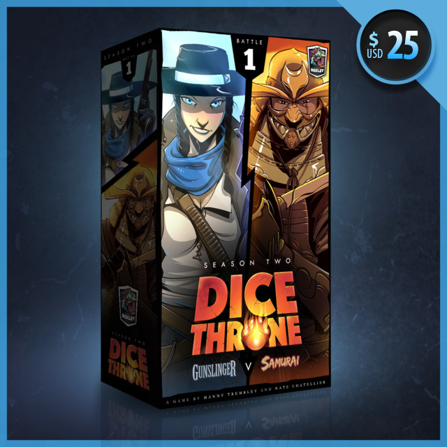 Gunslinger vs Samurai: Dice Throne Season Two Box 1  -  Roxley Games
