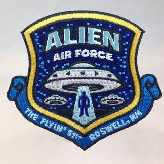 Alien air force ufo military embroidered patch sq legacy square thumb
