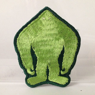 Skunk ape silhouette embroidered patch full legacy square thumb