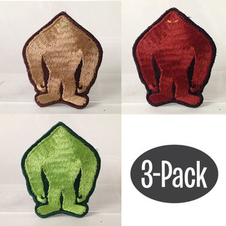 Grassman skunk yowie silhouette patch 3 pack large legacy square thumb