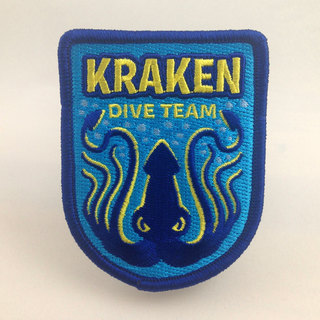 Kraken dive team patch legacy square thumb