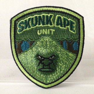 Skunk ape unit embroidered patch full legacy square thumb