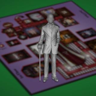 Miniature custom legacy square thumb