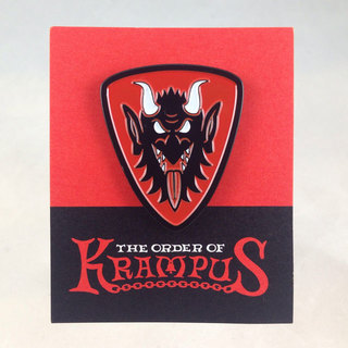 Krampus face enamel pin sq legacy square thumb