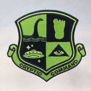 Cryptid command bigfoot nessie ufo military embroidered patch sq legacy square thumb