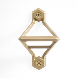 Wall mounted brass white legacy square thumb