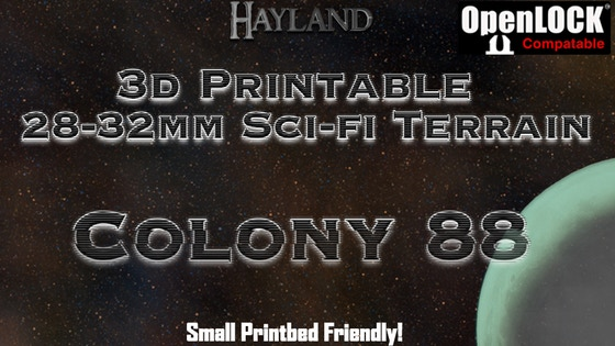 graphic relating to Printable Terrain named Preorder Colony 88 - 28mm 3D Printable Sci-fi Terrain