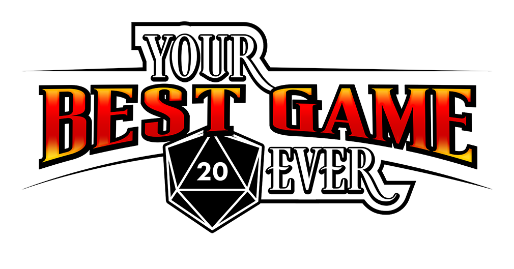Your best game ever logo white back color