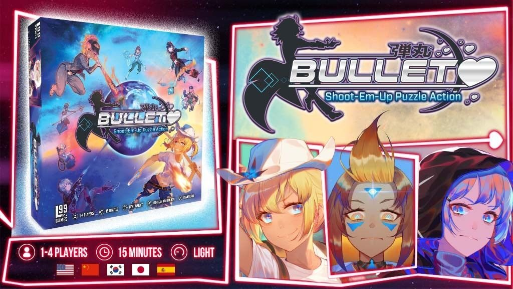 Backerkit Pledge Manager For Bullet Shoot Em Up Puzzle Action Board Game