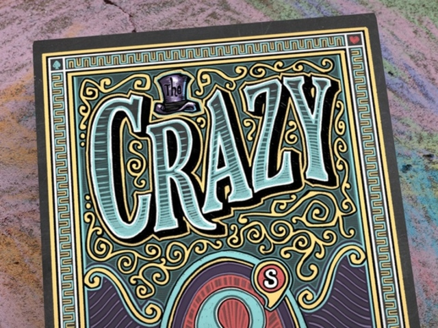 Crazy 8's - A Hand Illustrated Deck of Playing Cards