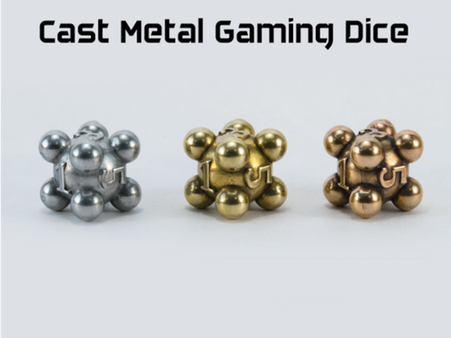 Cast Metal Gaming Dice