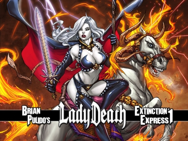 BRIAN PULIDO'S NEW LADY DEATH GRAPHIC NOVEL: EXTINCTION EXPRESS #1!