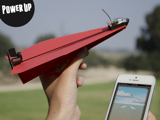 PowerUp 3.0 - Smartphone Controlled Paper Airplane