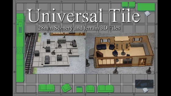 Project Updates for Universal Tile 3D Printing 28mm Tabletop Terrain